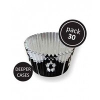 PME Foil Baking Cups Football Black -30st-