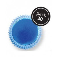 PME Baking Cups Metallic Blue -30st-