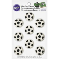 Wilton Icing Decoratie Soccer Ball -9st-