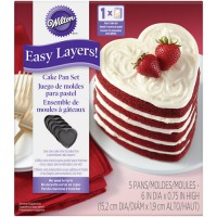 Wilton Heart Cake Pan Easy Layers Set -5st-