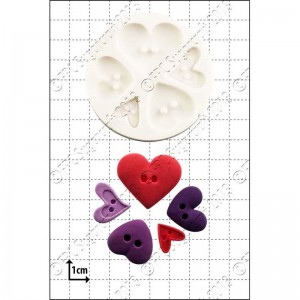 FPC Mold Heart Buttons