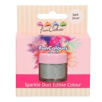 FunCakes Edible FunColours Sparkle Dust Dark Silver