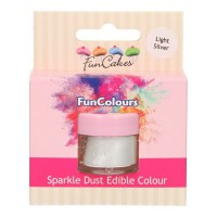 FunCakes Edible FunColours Sparkle Dust Light Silver