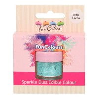 FunCakes Edible FunColours Sparkle Dust Mint Green