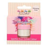 FunCakes Edible FunColours Sparkle Dust Shimmering Green