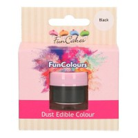 FunCakes Edible FunColours Dust Black