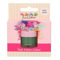 FunCakes Edible Dust Holly Green