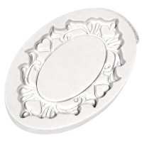 Katy Sue Mould Decorative Plaque Oval Hearts