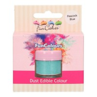 FunCakes Edible FunColours Dust Peacock Blue