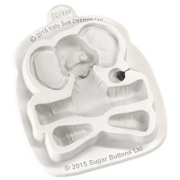 Katy Sue Mould Sugar Buttons Character Baby Elephant