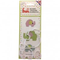 FMM Mummy and Baby Elephant Cutter Set -4st-