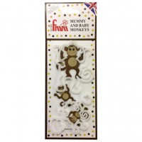 FMM Mummy and Baby Monkey Cutter Set -4st-