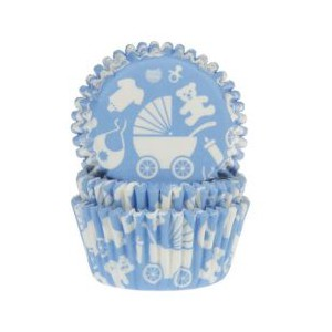 House of Marie Baking Cups Baby Blauw -50st-