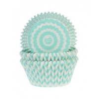 House of Marie Baking Cups Chevron Mint -50st-