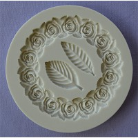 Alphabet Moulds Circular Rose Frame