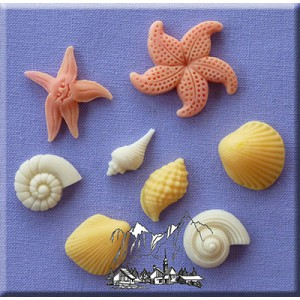 Alphabet Moulds Shells and Starfish