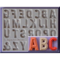 Alphabet Moulds Bevelled Font Alphabet