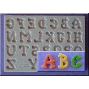 Alphabet Moulds Cartoon Font Alphabet
