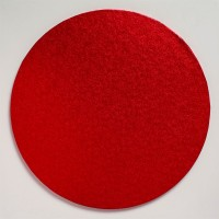 Cake Drum Rond Rood -25cm-