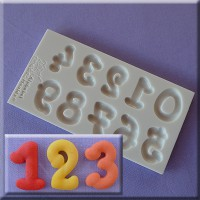 Alphabet Moulds Cartoon Font Numbers