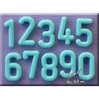 Alphabet Moulds Rounded Font Numbers <>