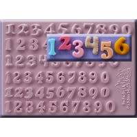 Alphabet Moulds Set of Numbers 12mm