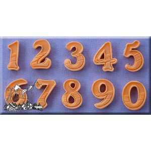 Alphabet Moulds Gradient Fill Numbers 18mm