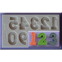 Alphabet Moulds Gradient Fill Numbers 21mm