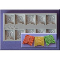 Alphabet Moulds Ribbon Bunting Numbers