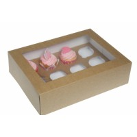 House of Marie 12-Cupcake Box Kraft -1st-
