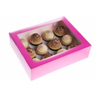 House of Marie 12-Cupcake Box Fuchsia -1st-