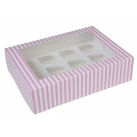 House of Marie 12-Cupcake Box Circus Pink -1st-