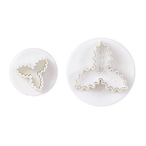 Cake Star Plunger Cutter Triple Holly -2st-