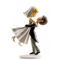 Wedding Cake Topper Jumping