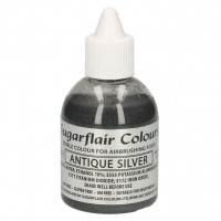 Sugarflair Airbrush Colouring litter Antique Silver -60ml-