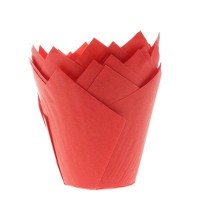 House of Marie Muffin Cups Tulp Rood -36st