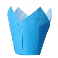 House of Marie Muffin Cups Tulp Blauw -36st