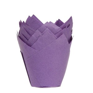 House of Marie Muffin Cups Tulp Paars-36st
