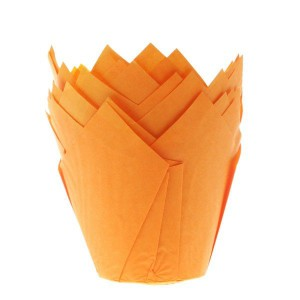 House of Marie Muffin Cups Tulp Oranje -36st