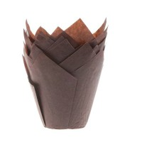 House of Marie Muffin Cups Tulp Bruin -36st