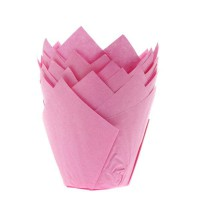 House of Marie Muffin Cups Tulp Roze -36st