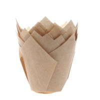 House of Marie Muffin Cups Tulp Kraft -36st