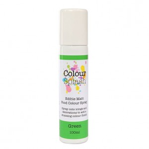 Colour Splash Edible Food Colour Spray Matt Green -100ml-