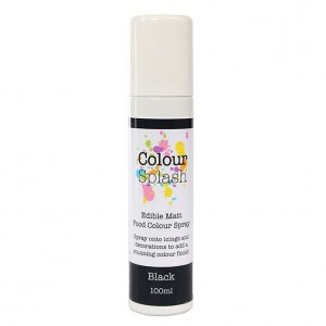 Colour Splash Food Colour Spray Matt Black -100ml-