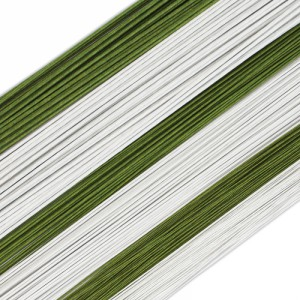 Floral Wire Dark Green 24g -50st-
