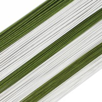 Floral Wire White 24g -50st-