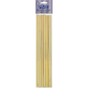 PME Dowel Rods Bamboo -12st-
