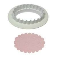 PME Plain & Fluted Oval Plaque Small -35mm-