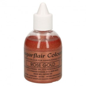 Sugarflair Airbrush Colouring Glitter Rose Gold -60ml-