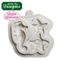 Katy Sue Mould Sugar Buttons Starfish & Seahorse